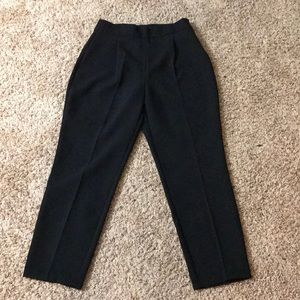 Zara high waisted pleat front trousers